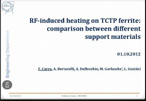 RFinduced heating on TCTP ferrite comparison between different