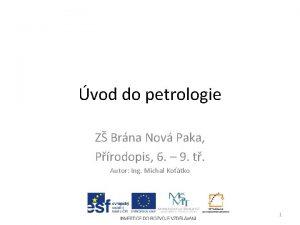 vod do petrologie Z Brna Nov Paka Prodopis