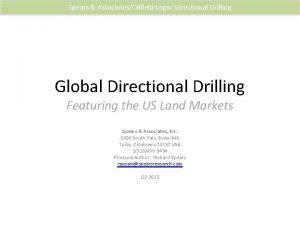 Spears AssociatesOilfield Logix Directional Drilling Global Directional Drilling