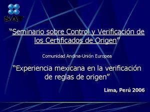 Seminario sobre Control y Verificacin de los Certificados