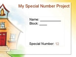 My Special Number Project Name Block Special Number