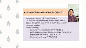 TATALAKSANA RINOSINUSITIS DI LAYANAN PRIMER Dr Sinta Sari