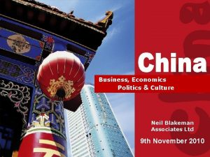 Doing Business with China Business Economics Politics Culture