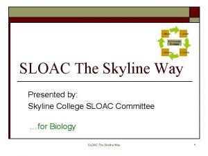 SLOAC The Skyline Way Presented by Skyline College