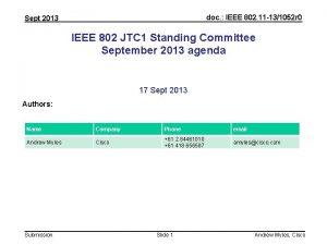 doc IEEE 802 11 131052 r 0 Sept