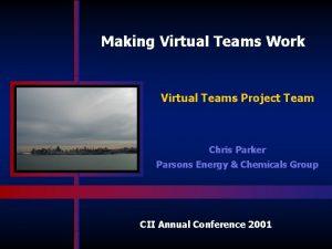 Making Virtual Teams Work Virtual Teams Project Team