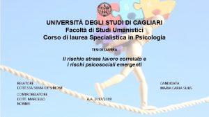 UNIVERSIT DEGLI STUDI DI CAGLIARI Facolt di Studi