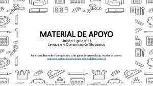 MATERIAL DE APOYO Unidad 1 gua n 14