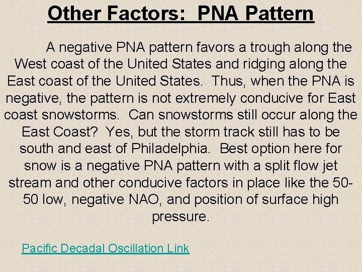 Other Factors PNA Pattern A negative PNA pattern