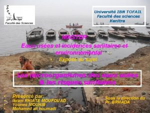 Universit IBN TOFAIL Facult des sciences Kenitra MASTER