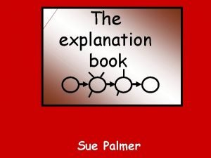 The explanation book Sue Palmer explanation text explains