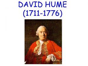 DAVID HUME 1711 1776 Glavna djela o A