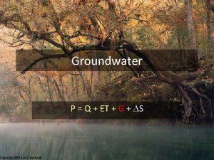 Groundwater P Q ET G DS Floridan Aquifer