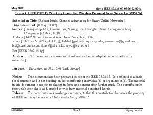 May 2009 doc IEEE 802 15 09 0306