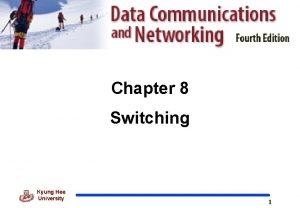 Chapter 8 Switching Kyung Hee University 1 Switching