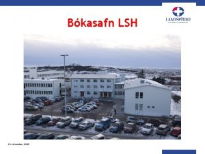 Bkasafn LSH 01 nvember 2020 Bkasafn LSH 01