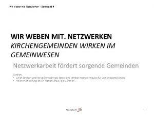 Wir weben mit Netzwerken Download 4 WIR WEBEN