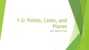 1 2 Points Lines and Planes Basic Geometry
