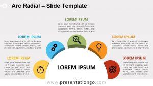 Arc Radial Slide Template LOREM IPSUM Lorem ipsum