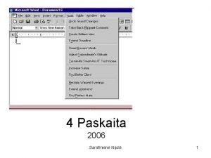 2006 m 4 Paskaita 2006 Sarafinien Nijol 1