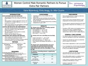 Women Control Male Romantic Partners to Pursue Extra