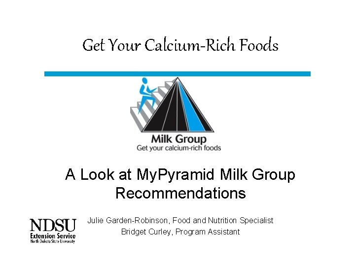Get Your CalciumRich Foods A Look at My