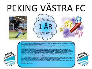 PEKING VSTRA FC 298 2011 1 R 298