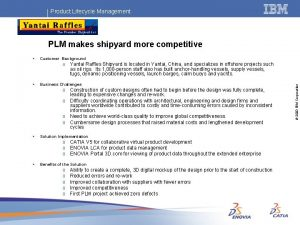 Product Lifecycle Management PLM makes shipyard more competitive