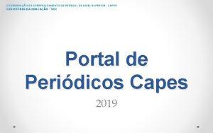 COORDENAO DE APERFEIOAMENTO DE PESSOAL DE NVEL SUPERIOR