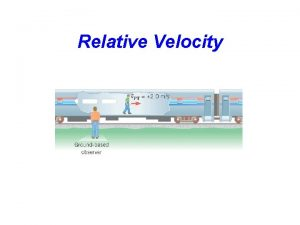 Relative Velocity 3 4 Relative Velocity Who is
