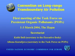 Convention on Longrange Transboundary Air Pollution First meeting