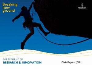 Chris Beynon DRI Research Projects Budget Preparation Chris