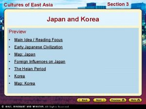 Cultures of East Asia Japan and Korea Preview