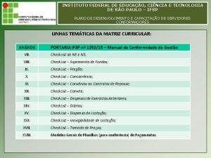 INSTITUTO FEDERAL DE EDUCAO CINCIA E TECNOLOGIA INSTITUTO