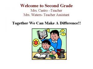 Welcome to Second Grade Mrs Castro Teacher Mrs