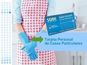 Tarjeta Personal de Casas Particulares Tarjeta Personal de