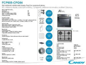 FCP 605 CPG 64 Set vestavn ventilovan trouby