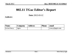 March 2012 doc IEEE 802 11 111184 r