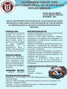 UNIVERSIDAD FERMN TORO DOCTORADO EN CS DE LA