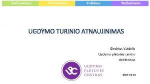 UGDYMO TURINIO ATNAUJINIMAS Giedrius Vaidelis Ugdymo pltots centro