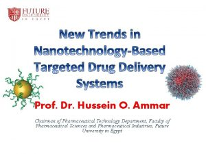New Trends in NanotechnologyBased Targeted Drug Delivery Systems