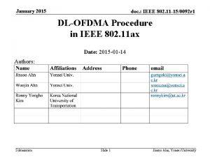 January 2015 doc IEEE 802 11 150092 r