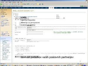 AJPES Agencija Republike Slovenije za javnopravne evidence in