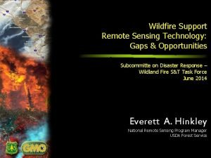 Wildfire Support Remote Sensing Technology Gaps Opportunities Subcommitte