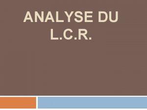 ANALYSE DU L C R Ponction lombaire excution
