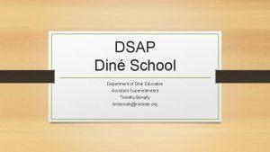DSAP Din School Department of Din Education Assistant