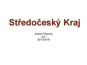 Stedoesk Kraj Jmno Pjmen 9 t 20172018 Zkladn