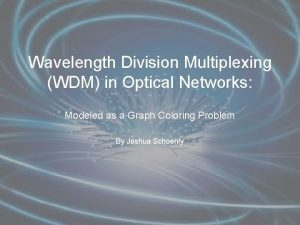 Wavelength Division Multiplexing WDM in Optical Networks Modeled