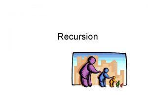 Recursion Recursive Procedures 3 5 Recursion A way