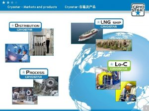 Cryostar Markets and products Cryostar 1 Cryostar Markets